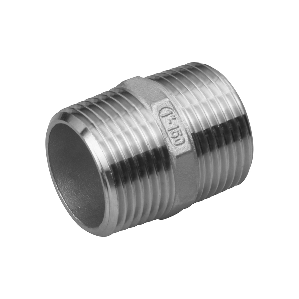 Stainless hex nipple double end screw fittings Featured Image