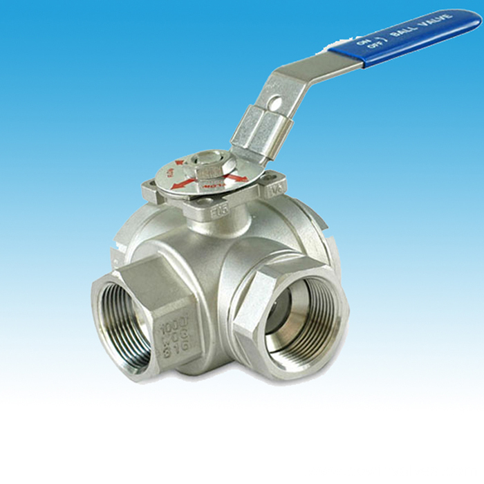 Type T Mounting Pad 3 Way Ball Valves
