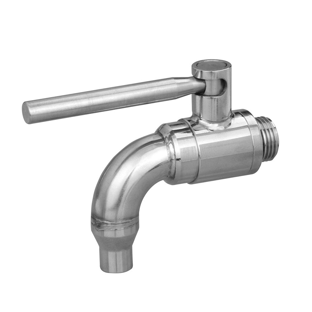 316 polished ball valve drain tap stainless steel metal handles