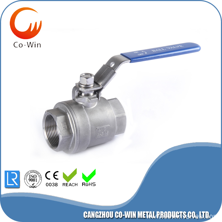 2PC BALL VALVE WITH FEMALE THREAD