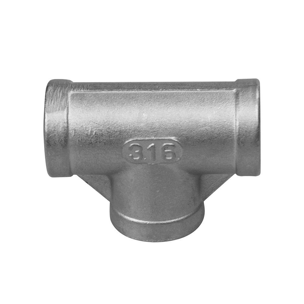 stainless steel pipe fittings  thread fitting  equal tee  150LB
