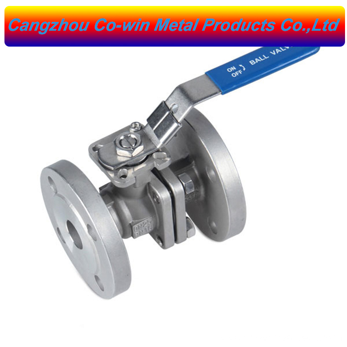 Silicon Sol casting 2PC Flanged Ball valves