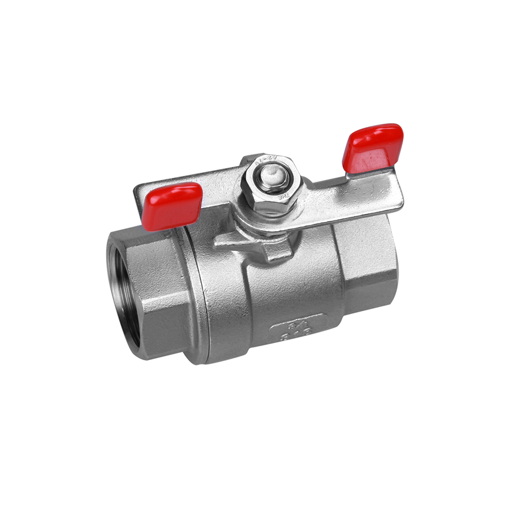 stainless steel ball valve 2PC butterfly handle
