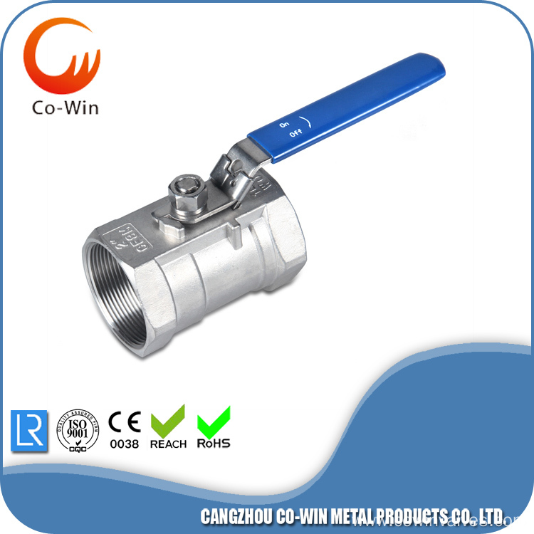 Threaded 1PC Ball Valve Stainless Steel
