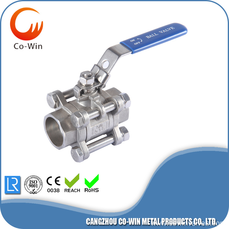 Three Piece Ball Valve WCB