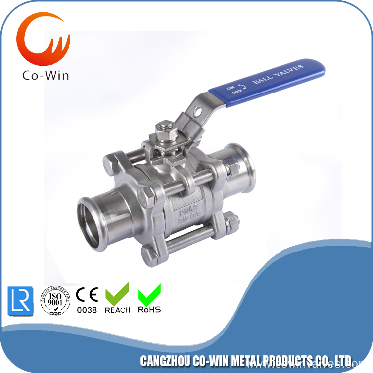 3PC Ball Valve With Pressing End Cap
