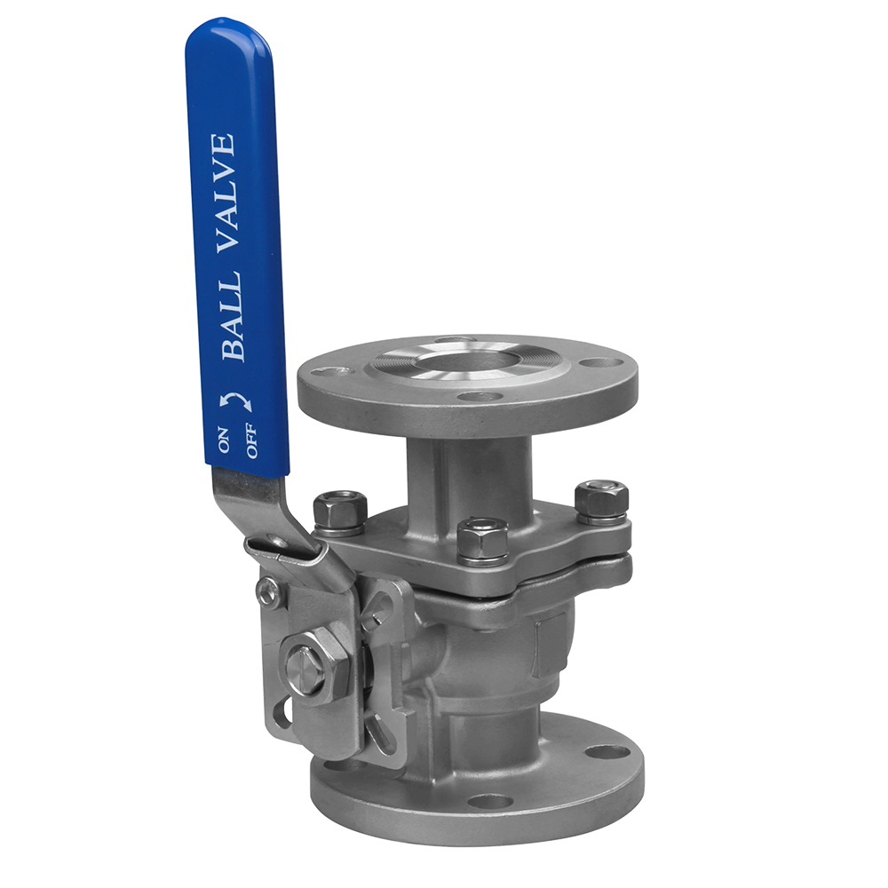 stainless steel 2PC flange ball valve PN16 Featured Image