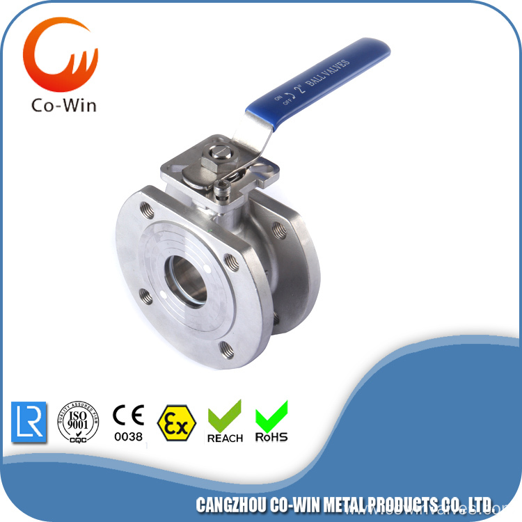 Silicon Sol Casting 1PC Flanged Ball Valves
