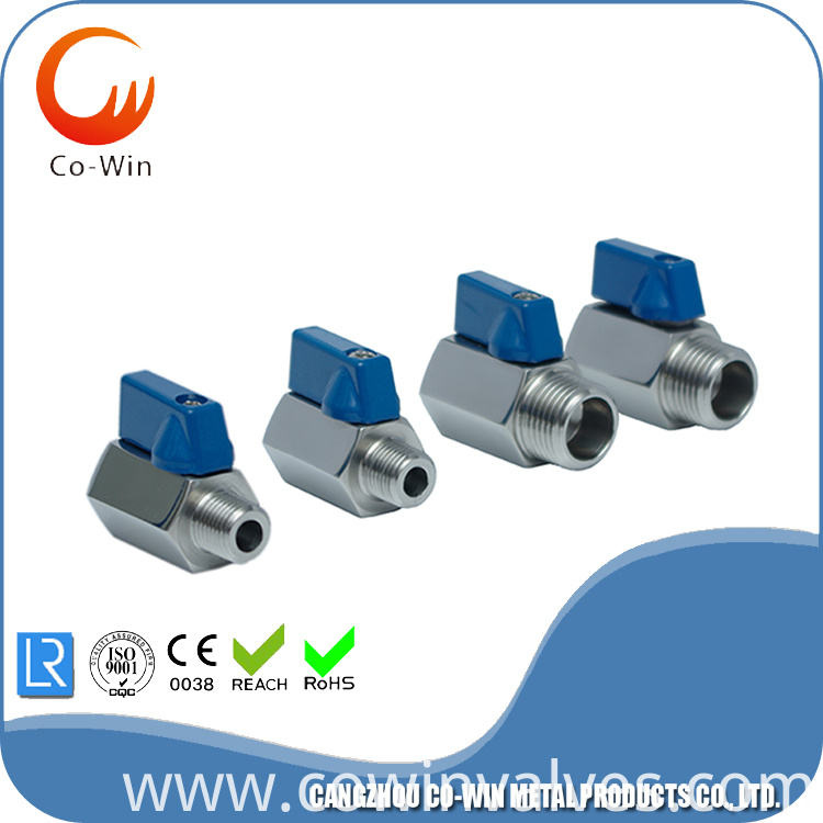 Stainless Steel Mini Ball Valve - FxM NPT