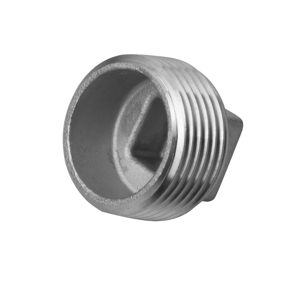 stainless steel fitting square plug male 150LB