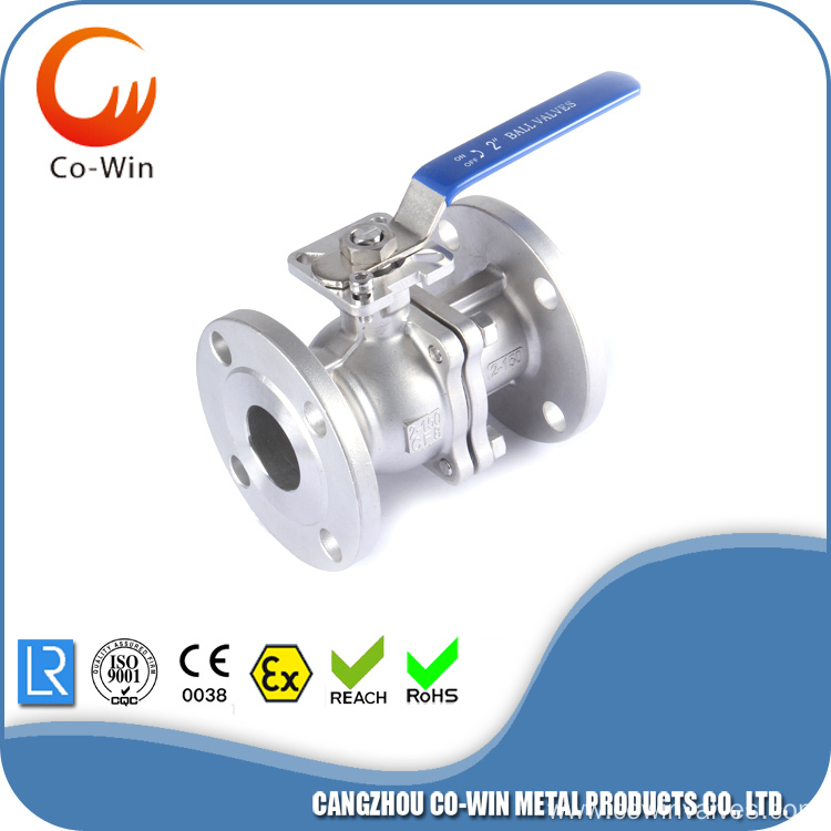 DIN 200PSI 2PC Flanged Ball Valve