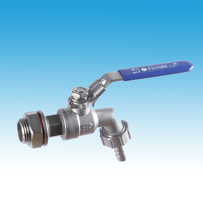 Stainless Steel Hose Tap With O Ring and Nut