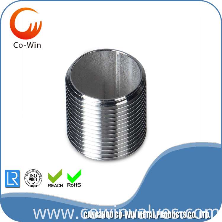 SS304/316 Parallel Pipe Nipple Fitting SCH40