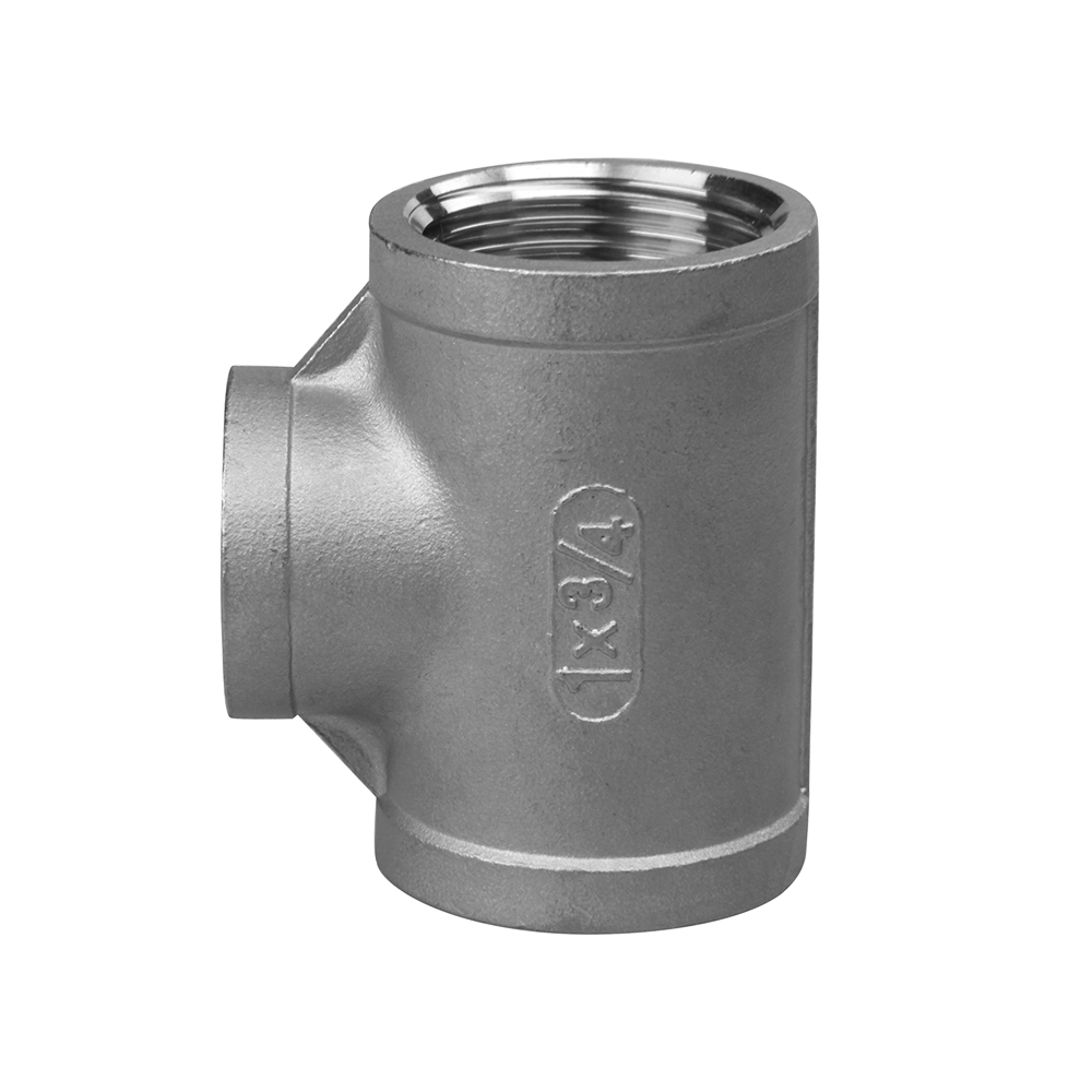 stainless steel screw fitting equal tee