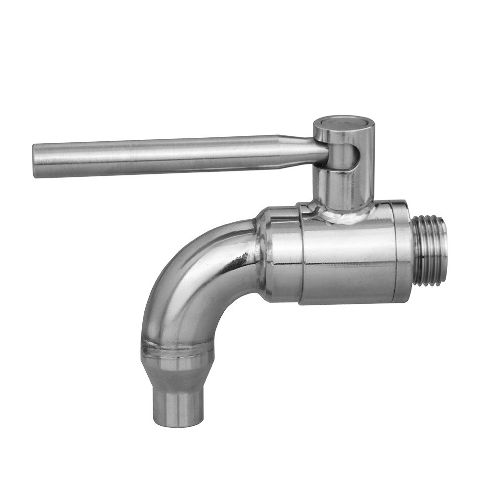 1.4408 ball valve drain tap valve with elbow tube
