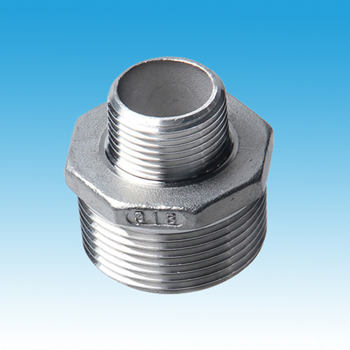 Precision Casting Stainless Steel Red Hex Nipple