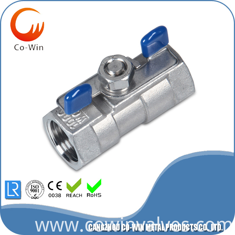 Investment Casting 1PC Butterfly Handle Ball Valve