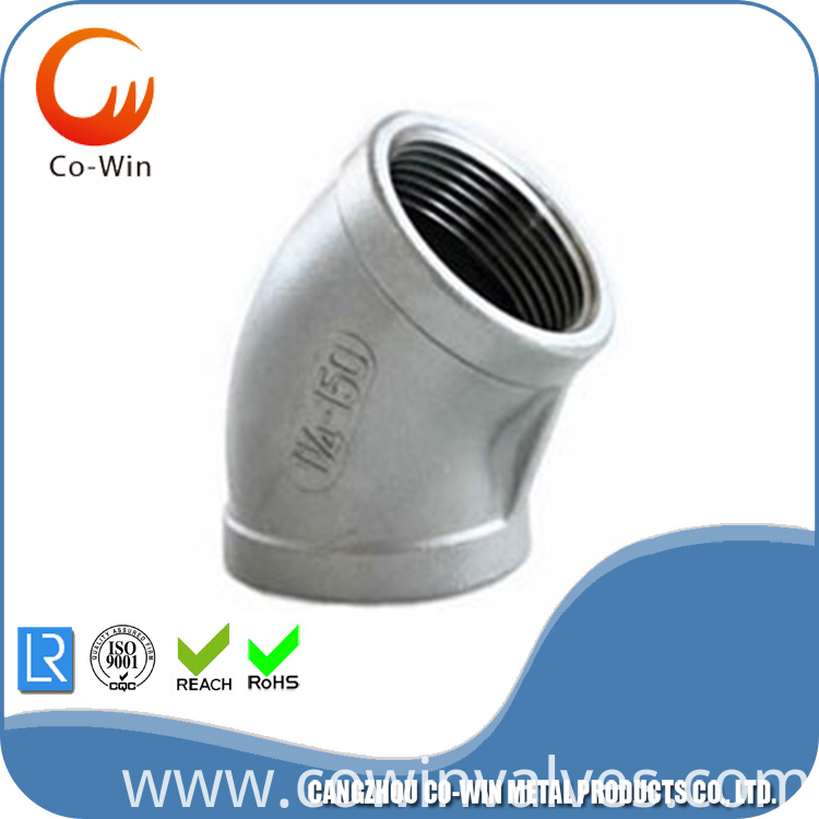 ISO4144 threaded fittings elbow 45