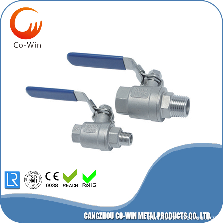 Silicon Sol Casting F/M 2PC Ball Valves