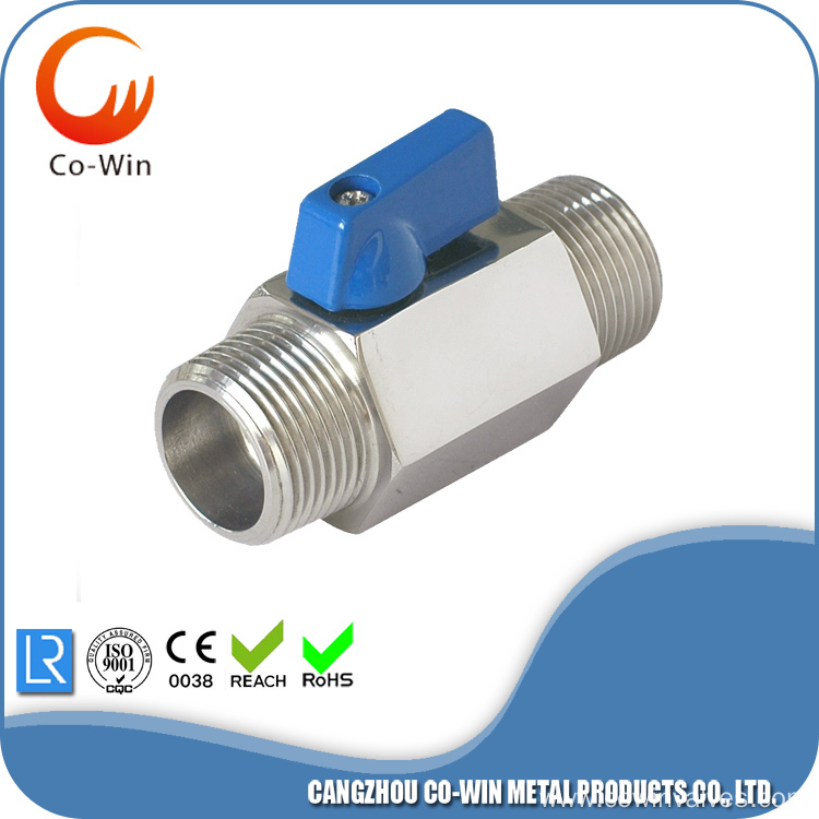 Investment Casting M/M Mini Ball Valve CF8/CF8M