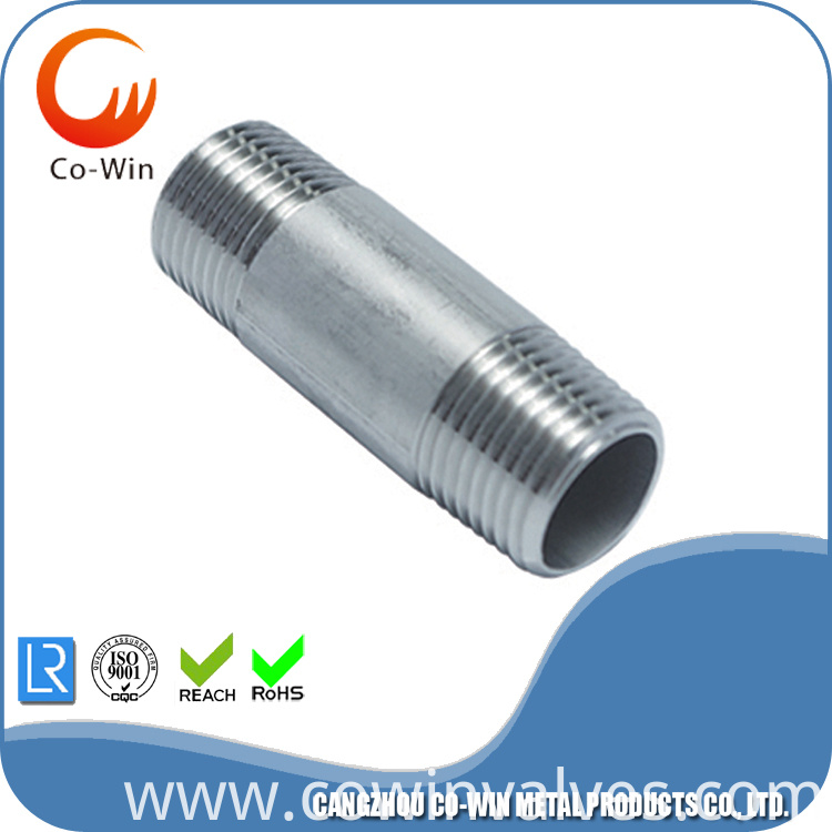 Stainless Steel CF8/CF8M Barrel Pipe Nipple SCH40