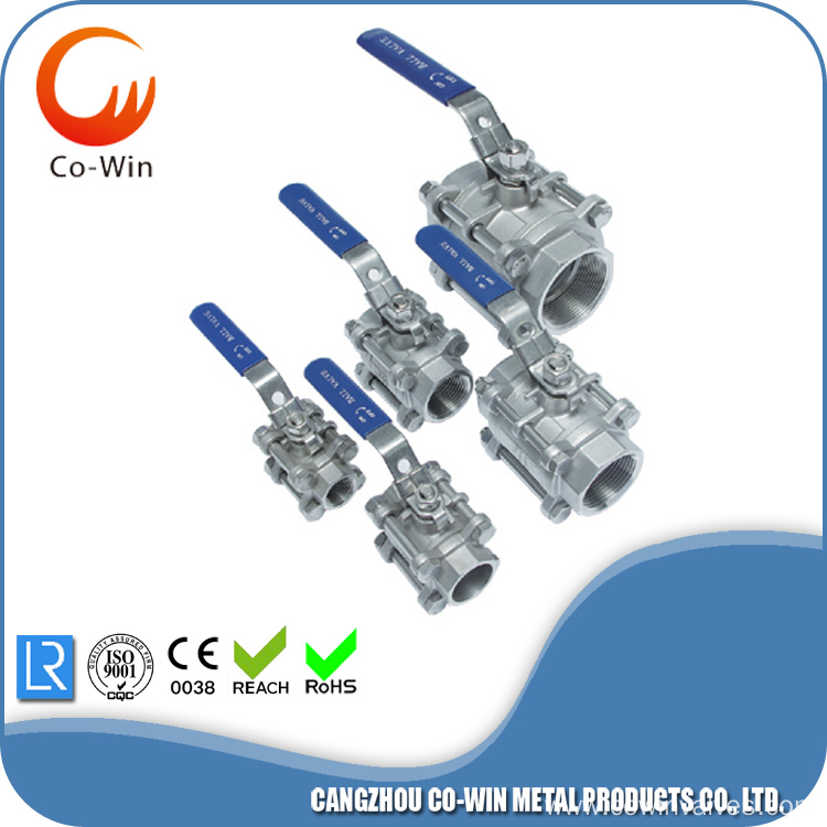 3PC Ball Valve 1000WOG