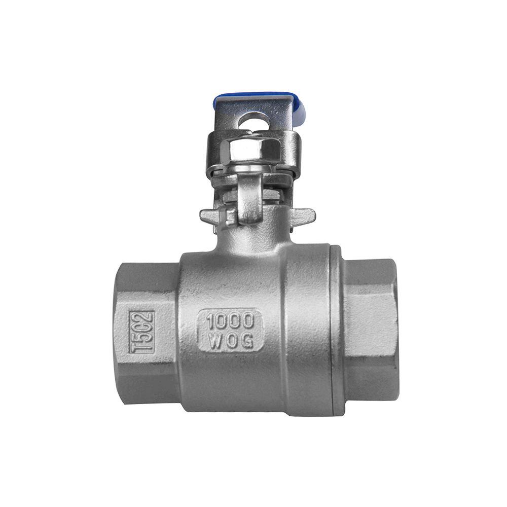 casting stainless steel valves 2PC with lock