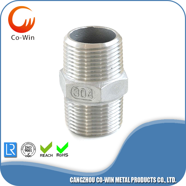 Stainless Steel Thread Hex Nipple CF8/CF8M Featured Image