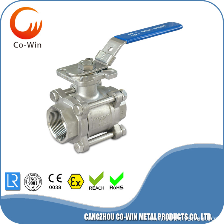 3PC Ball Valve With Mounting Pad