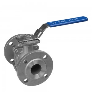 stainless steel 2PC flange ball valve PN16