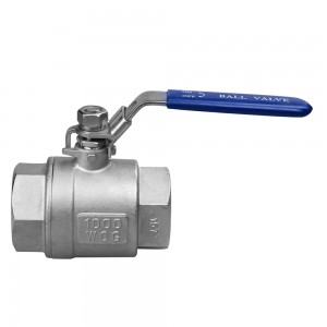 SS304 Stainless Steel Ball Valve 1000PSI BSP Female Thread 3/4