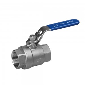 CF8M stainless steel 2PC ball valve