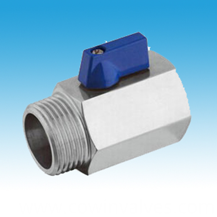 Mini Ball Valve,3/8 MPT to 3/8FPT,Brewer Hardware