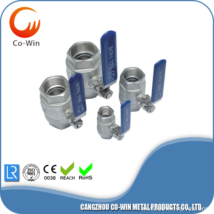 stainless steel 2pc ball valve 1000wog