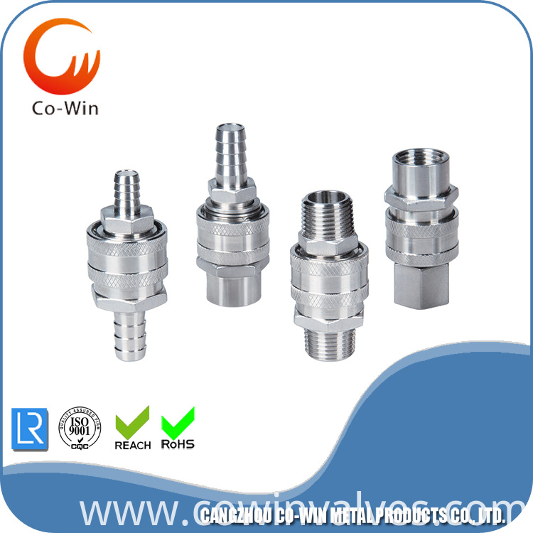 Stainless Steel 1/2 inch Barb Connector