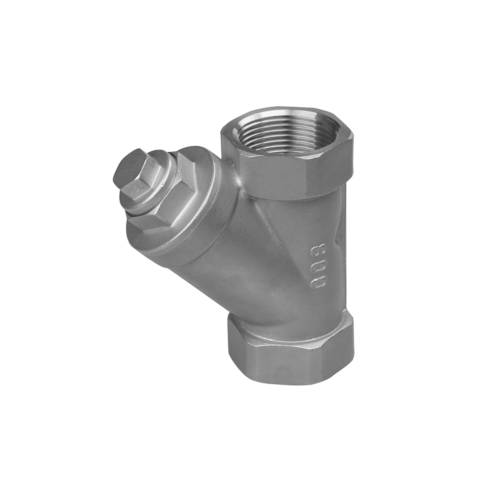 Y type strainer valves stainless steel threaded