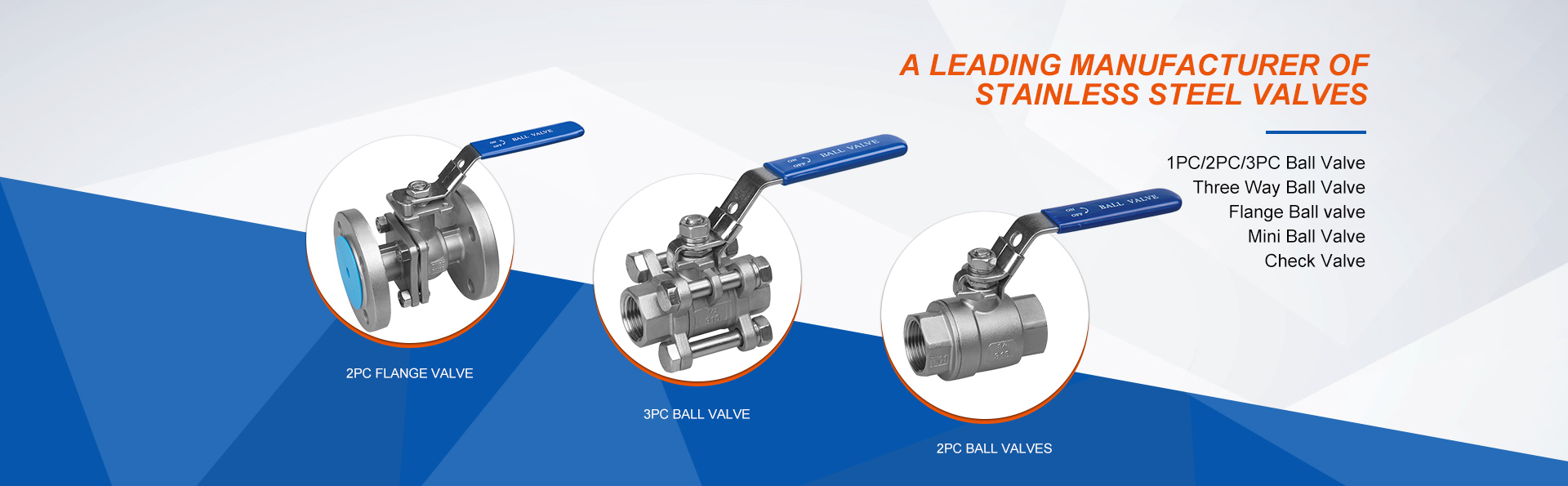 A leading manufacturer of stainless steel valves
