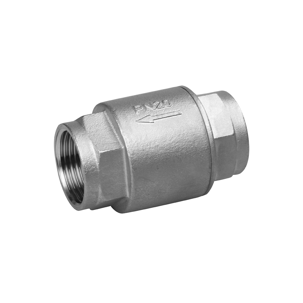 stainless steel check valve 2PC SPRING TYPE