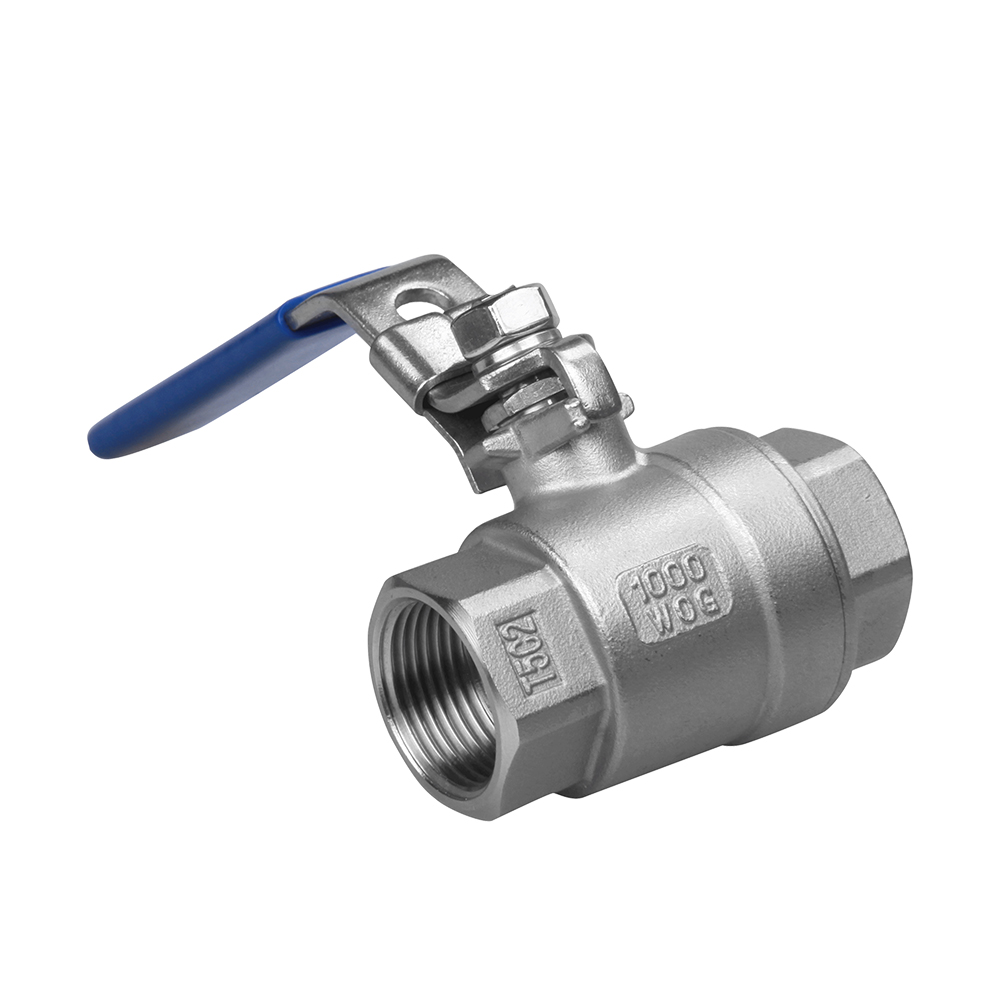 stainless steel 2PC ball valve with female DN50