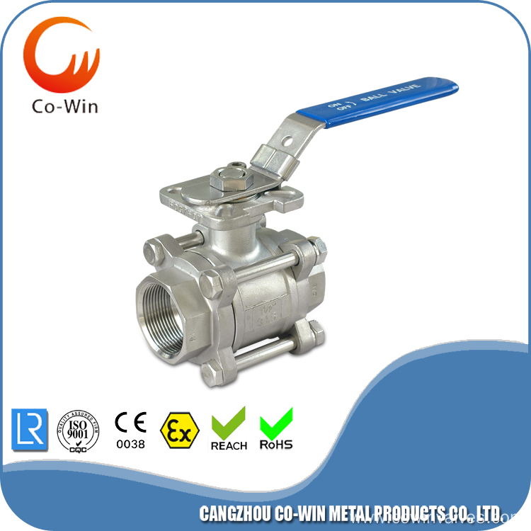 Mounting Pad 3 PC Ball Valve