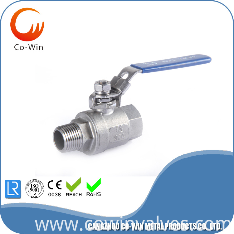 2PC ball valve F/M Stainless Steel