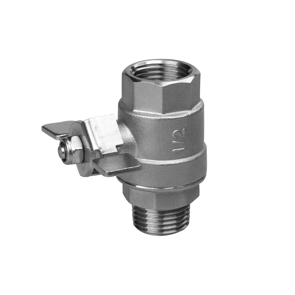 stainless steel ball valve with butterfly handle