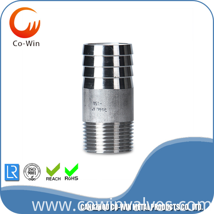 Stainless Steel Thread Hex Nipple CF8/CF8M