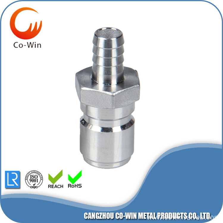 Investment Casting Quick Disconnect Plug Barb 13.6mm