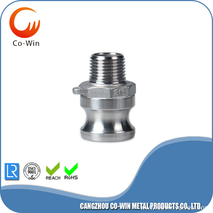 316 Stainless Steel Male Camlock Pipe NPT