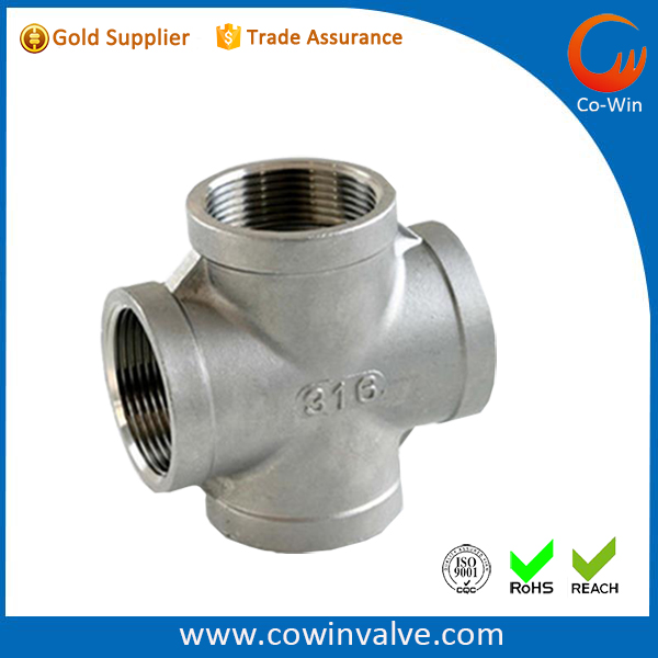 Stainless Steel 316 Cast Pipe Fitting Cross