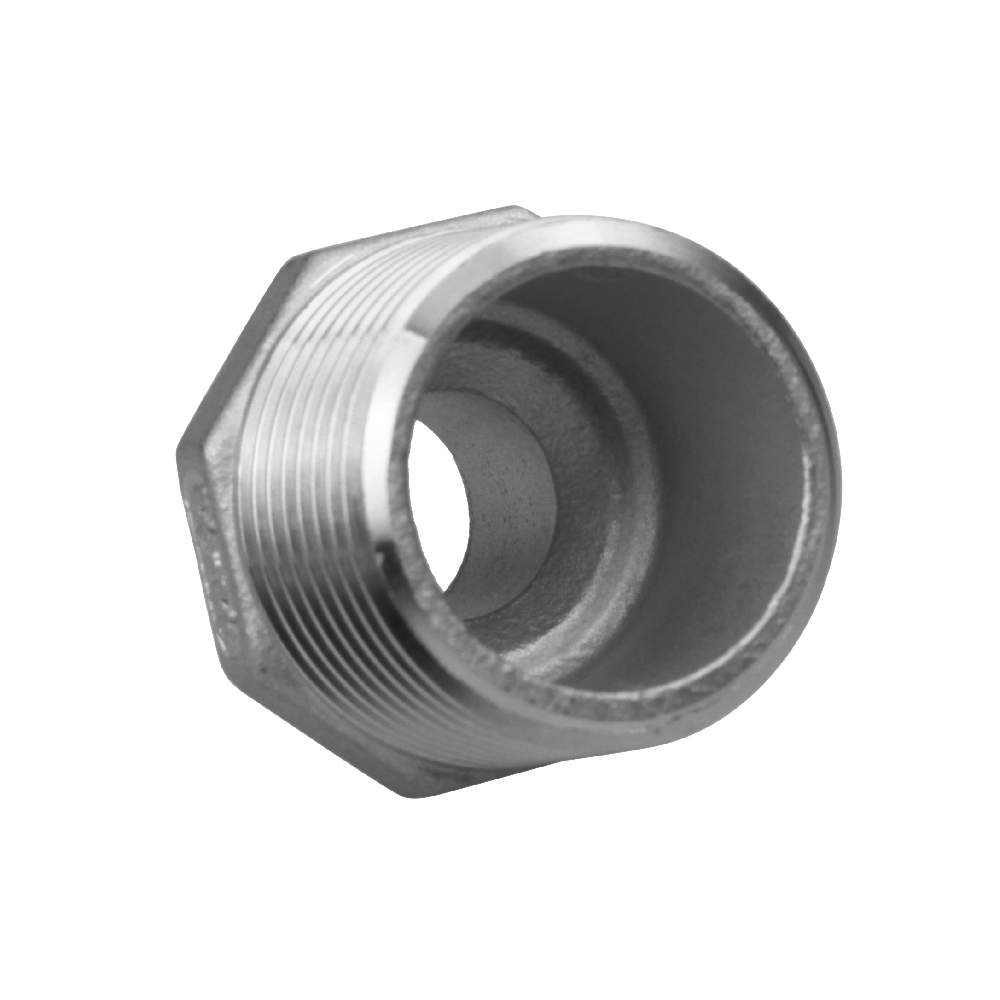 Stainless hex nipple double end screw fittings
