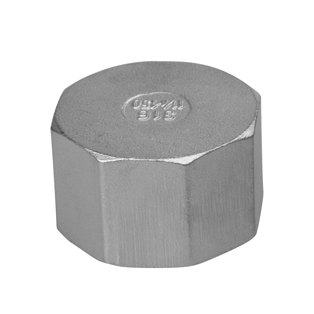 stainless steel casting fitting hex cap